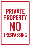 Private Property No Trespassing Prints