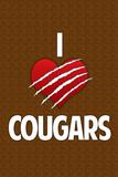 I Heart Cougars Humor Prints
