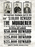 John Wilkes Booth Replica Wanted Plakater