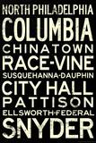 Philadelphia Broad Street Line Stations Retro Metro Posters