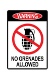Jersey Shore No Grenades Allowed Print