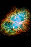 Crab Nebula Space Photo Poster