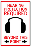 Hearing Protection Required Past This Point Photo