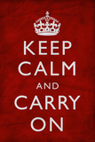 Keep Calm and Carry On, Textured Red Prints
