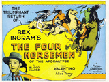 The Four Horsemen of the Apocalypse Movie Rudolphe Valentino Poster