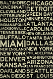 National Football League Cities Vintage Style Plakat
