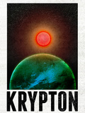 Krypton Retro Travel Poster Posters
