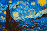 8-Bit Art The Starry Night Fotografia