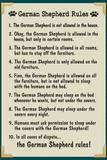 German Shepherd House Rules Prints