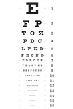 Eye Chart 16-Line Reference Poster
