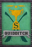 Quidditch Champions House Trophy Green Poster