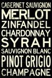 Wine Grape Types Plakáty