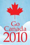 Go Canada 2010 (Blue) Sports Prints