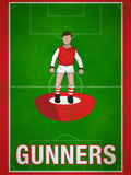 Gunners Football Soccer Sports Print