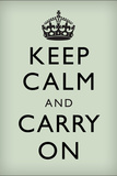 Keep Calm and Carry On, Mint Green Poster