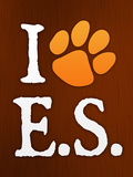 I Heart E.S. Paw-Print Music Posters
