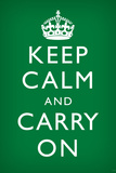 Keep Calm and Carry On, Faded Green Print