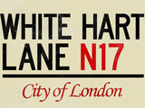 White Hart Lane N17 London Poster