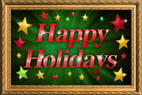 Happy Holidays Faux Framed Prints