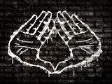 Illuminati Hand Sign Graffiti Poster