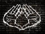 Illuminati Hand Sign Graffiti - Poster