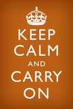 Keep Calm and Carry On, Faded Brown Print