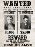 Butch Cassidy and The Sundance Kid Wanted Poster Photo