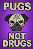 Pugs Not Drugs Prints