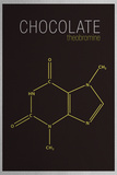 Chocolate (Theobromine) Molecule Plakater