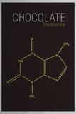 Chocolate (Theobromine) Molecule Láminas