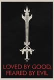 Loved By Good Feared By Evil Retro Foto