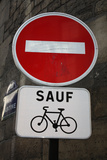 Paris France Sauf Biking Posters