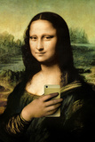 Mona Lisa Selfie Portrait Print