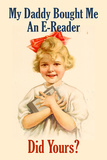 E-Reader Retro Advertising Posters