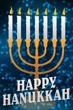 Happy Hanukkah Menorah Holiday Prints