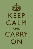 Keep Calm and Carry On Mint Green Prints