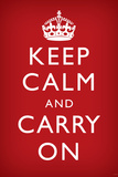 Keep Calm and Carry On, Faded Red Photo