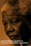 Nelson Mandela Quote Inspire Reprodukcje
