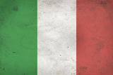 Italy Flag Distressed Posters
