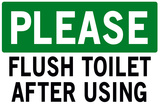 Please Flush Toilet Poster