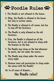 Poodle House Rules Prints