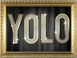 YOLO Bling Faux Frame Photo