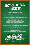 Notice to all Students Classroom Rules Print