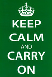 Keep Calm and Carry On, Green Prints