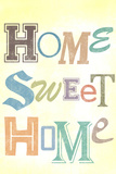 Home Sweet Home Retro Art