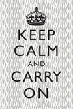 Keep Calm and Carry On Grey Pattern Posters