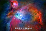 Orion Nebula Text Space Photo Poster