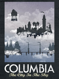Columbia Retro Travel Poster