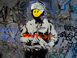 Smiley Face Happy Police Graffiti Posters