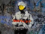 Smiley Face Happy Police Graffiti Prints